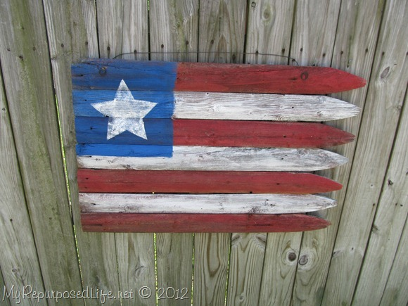 Americana Flag (Repurposed Fence) (25)