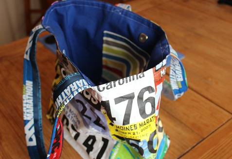 Race Bib Tote Bag