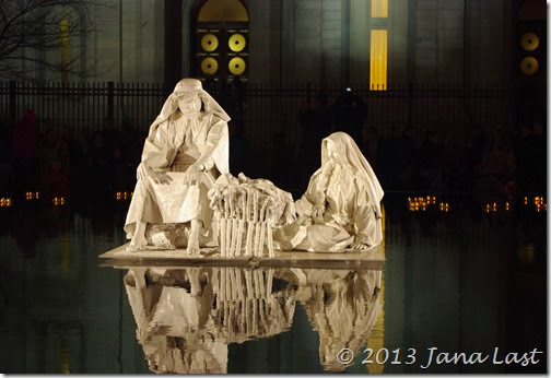 Nativity Scene at Temple Square in Salt Lake City, Utah
