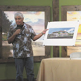 Architect Ron Agor presents his plan for a 23,745-square-foot wellness center south of Lipoa Street on South Kihei Road at the Tuesday, Jan. 17, meeting of The Kihei Community Association.