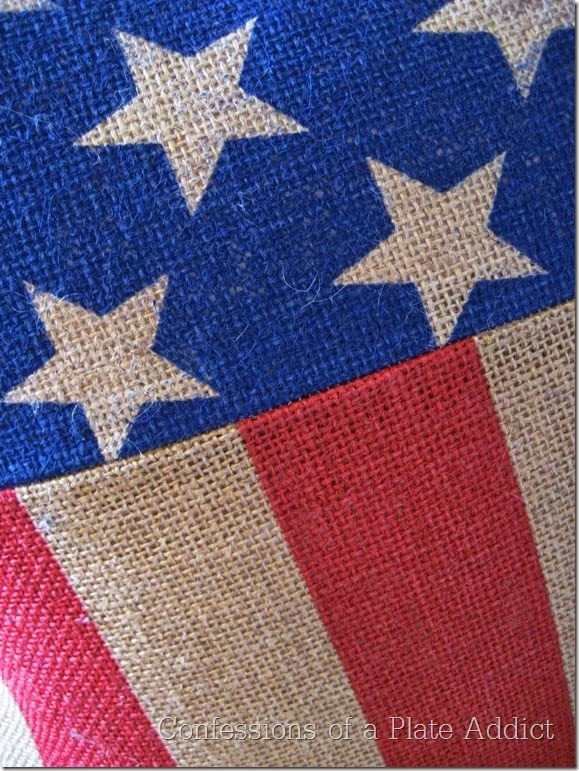 CONFESSIONS OF A PLATE ADDICT Pottery Barn Inspired Stars and Stripes Burlap Pillow