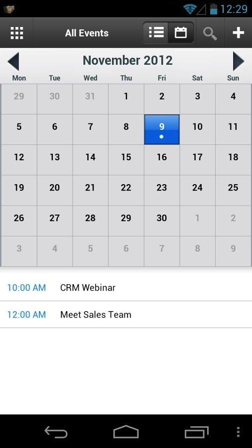 Zoho CRM- screenshot