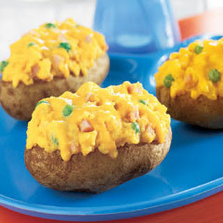 Twice-baked Cheddar Ham Potatoes.