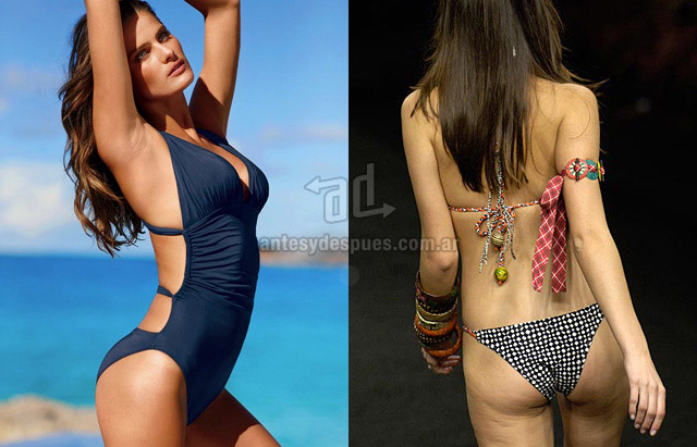 Cellulite of Isabeli Fontana