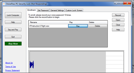 Voice Password Security Lock for Windows