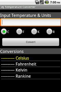 AJ Temperature Converter- screenshot thumbnail