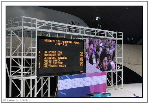 Score board FINA Diving World Cup 2012
