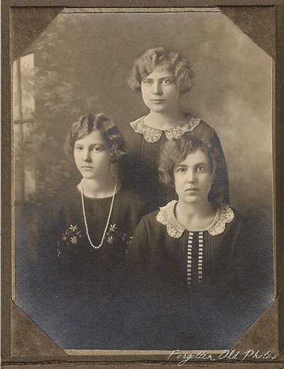 Three girls fingerwaves DL Antiques To Mrs Miller and Mrs Schultz