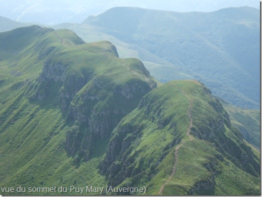Vue du Puy Mary (cantal)