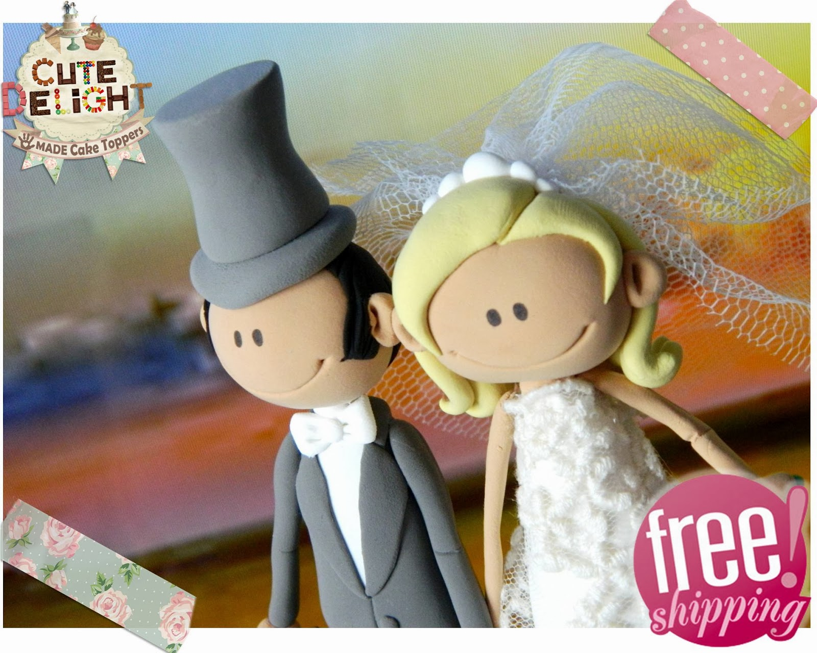 Bride And Groom Cake Top Funny Couple Runaway Groom