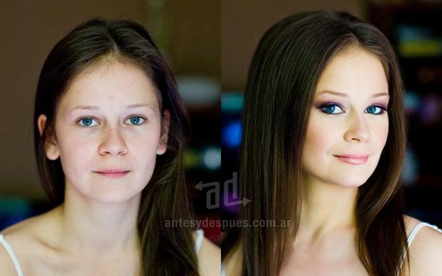 Antes y despues del maquillaje 19