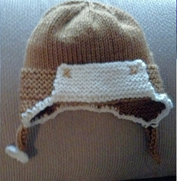 The Guilty Knitter  Aviator hat for high-flying toddlers 11d5f0910e1