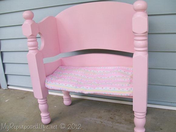 foot board repurposed bench
