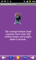 Screenshot of Anatomy Body Facts