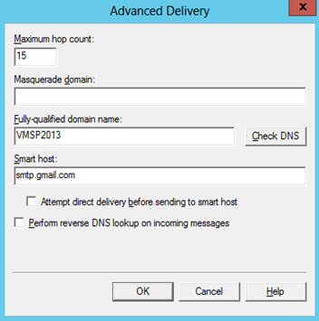 Configure outgoing e-mail settings with Gmail/Google SMTP