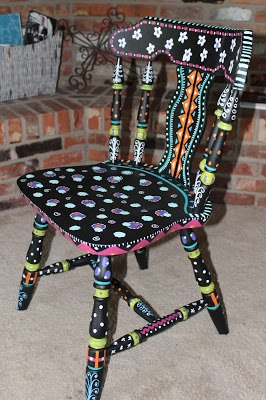 sweet hand painted chair