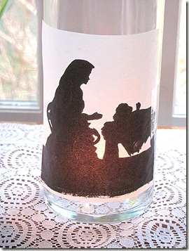 silhouette nativity