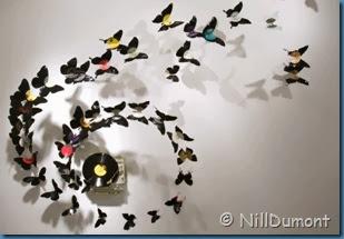 Borboletas-Artesanato-decoração-com-discos-de-vinil