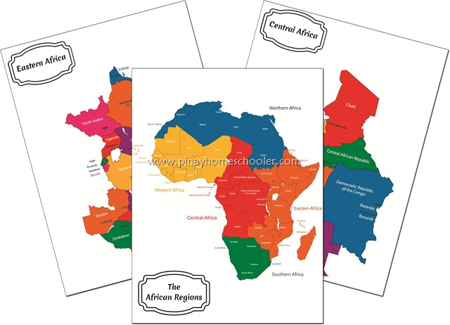 Africa Continent Maps
