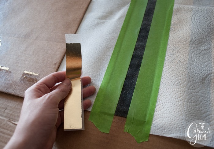 cut gold leaf sheets into strips2