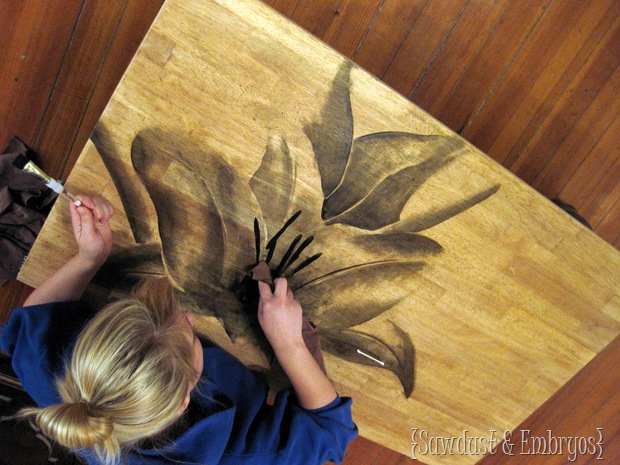 Wood Stain Painting
