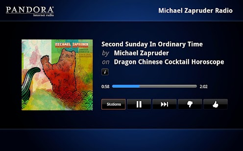 Pandora® radio for Google TV - screenshot thumbnail