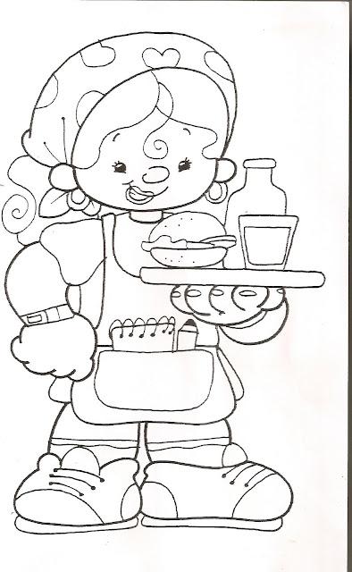 Dibujos Infantiles De Profesiones Para Colorear