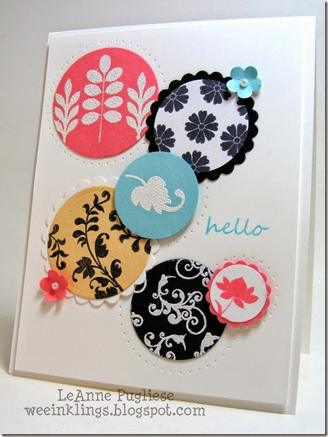 LeAnne Pugliese WeeInklings Color Throwdown 290 Stampin Hello Card
