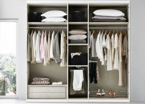 distribuir el interior del armario