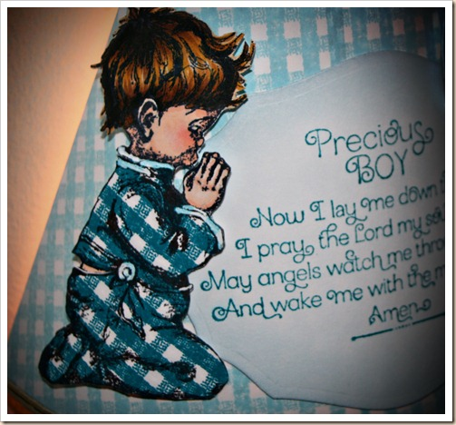 Precious Boy, Children's Prayer, Gingham Background, Our Daily Bread designs
