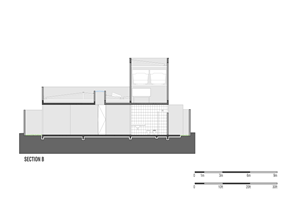 Plano seccion casa gedda mustafa bucar arquitetura