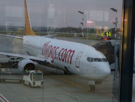 Avion Romania - Turcia: Fly Pegasus la Otopeni