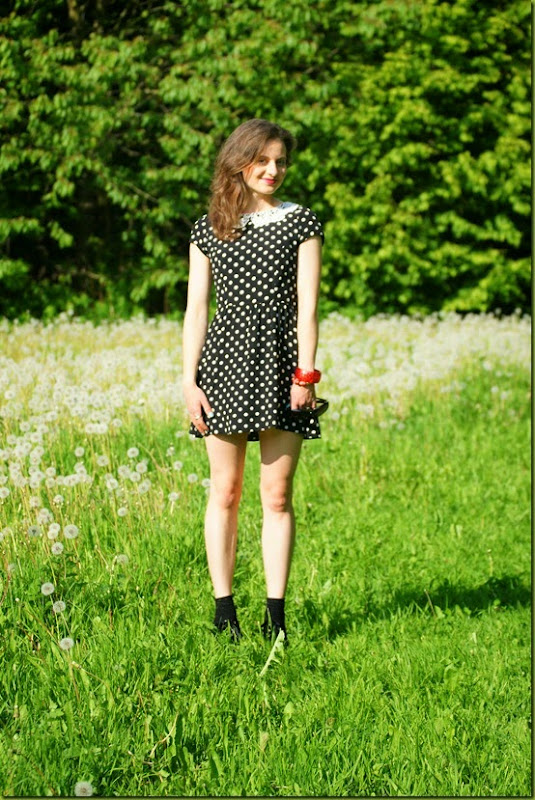 perfect polka dot mini dress