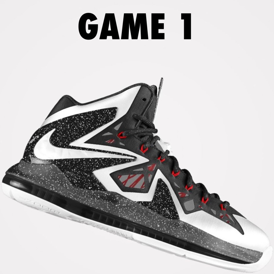 on sale 0b3d8 ec993 DIY Nike LeBron X PS Elite iD White amp Black Game 1 ...