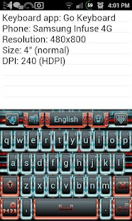 Techno Tron RB Keyboard Skin- screenshot thumbnail