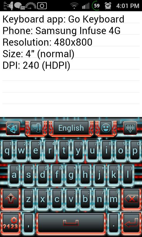 Techno Tron RB Keyboard Skin - screenshot