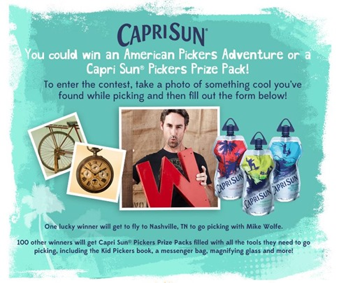 American Pickers and Capri Sun Big Pouch #CapriSunPickers