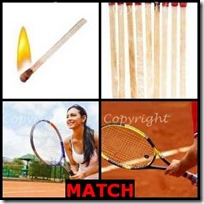 MATCH- 4 Pics 1 Word Answers 3 Letters