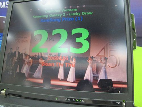 Oriflame SS Galaxy S2 - Trúng thưởng 1-3-2012