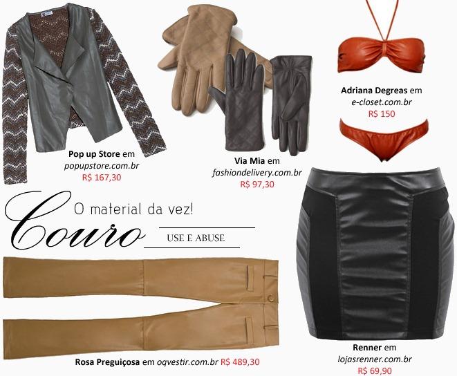 c3763912e Moda em Couro: Roupas e acessórios femininos para compor a produção ...