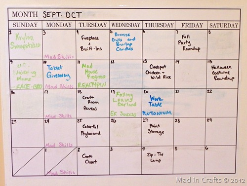 Simple Blog Calendar Plan - Mad in Crafts