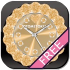 CUTE CUSTOM Qlock Gold gratis icon