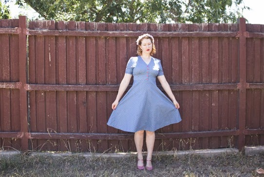 This Lindy Bop dress is perfect for running around in | Lavender & Twill