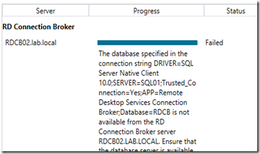 The Microsoft Platform: RD Connection Broker HA – SQL