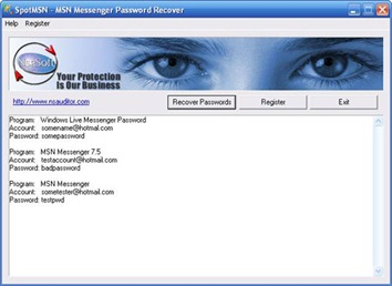 Recover your MSN password