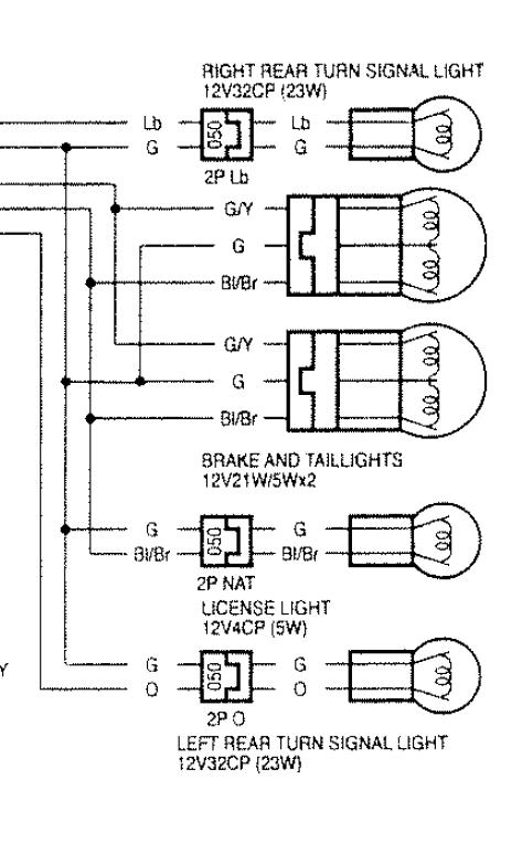 stop light wiring diagram honda cbr traffic light stop light wiring diagram for three rear brake lights and blinkers not working - cbr forum ...