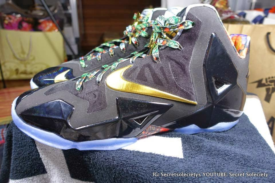 """Detailed Look at """"Watch the Throne"""" Nike LeBron XI PE ..."""