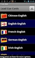 Screenshot of CueBrain! languages french etc