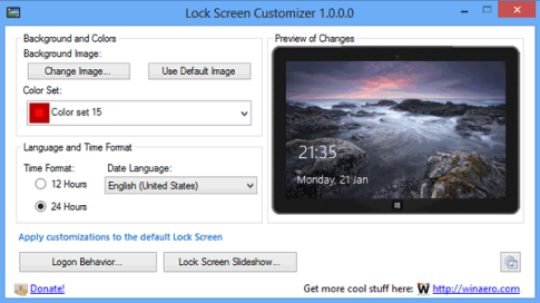 Lock Screen Customizer para Windows