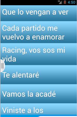 Ringtones Hinchada Racing Club - screenshot